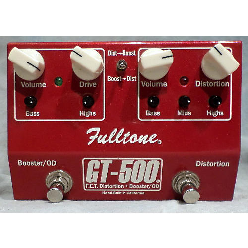 Fulltone GT500 Distortion Boost Effect Pedal