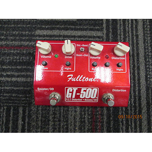 Fulltone GT500 Distortion Boost Red Effect Pedal-thumbnail