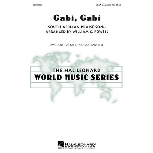 Hal Leonard Gabi, Gabi SSAA A Cappella arranged by William Powell