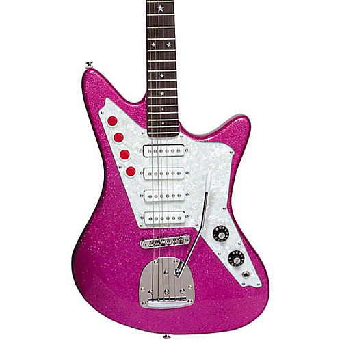 DiPinto Galaxie 4 Electric Guitar Pink Sparkle