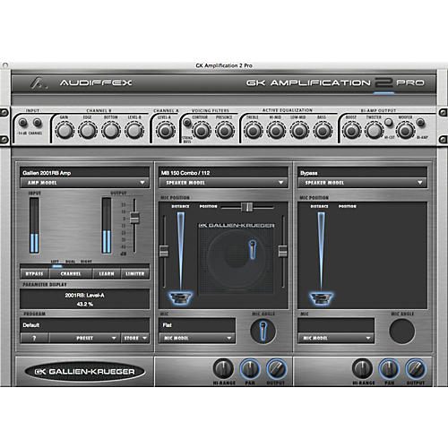 Audiffex Gallien-Krueger Amp 2 Pro Software Download