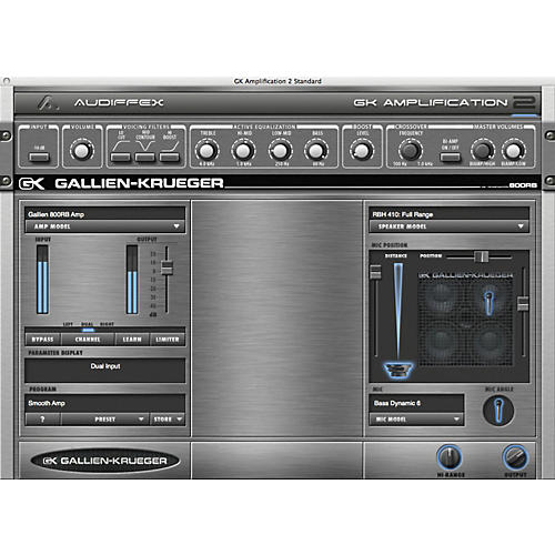 Audiffex Gallien-Krueger Amp 2 Software Download