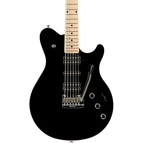 Ernie Ball Music Man Game Changer Reflex HSH with Tremolo and Piezo Electric Guitar Black Maple Fretboard