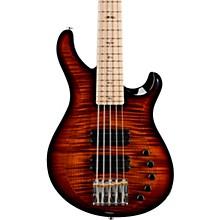 Gary Grainger 5-String Electric Bass Guitar with Maple Fretboard Black Gold Burst