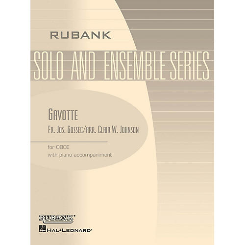 Rubank Publications Gavotte (Oboe Solo with Piano - Grade 1.5 (opt. 2.5)) Rubank Solo/Ensemble Sheet Series
