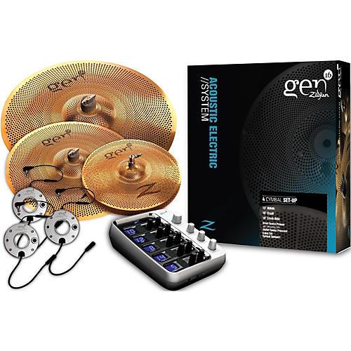 Zildjian Gen16 Buffed Bronze 13/16/18 Acoustic-Electric Cymbal Pack-thumbnail