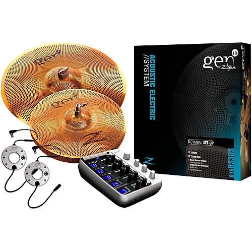 Zildjian Gen16 Buffed Bronze 13/18 Acoustic-Electric Cymbal Pack-thumbnail