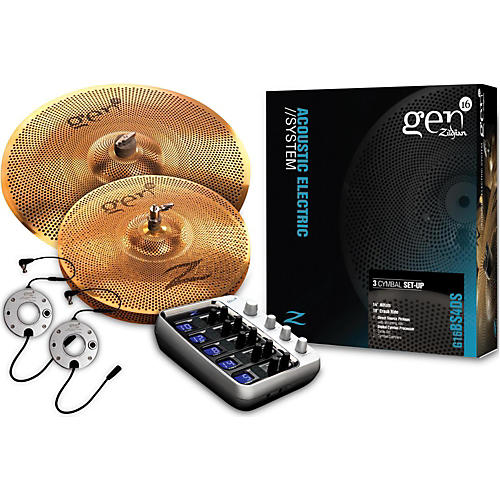 Zildjian Gen16 Buffed Bronze 14/18 Acoustic-Electric Cymbal Pack-thumbnail