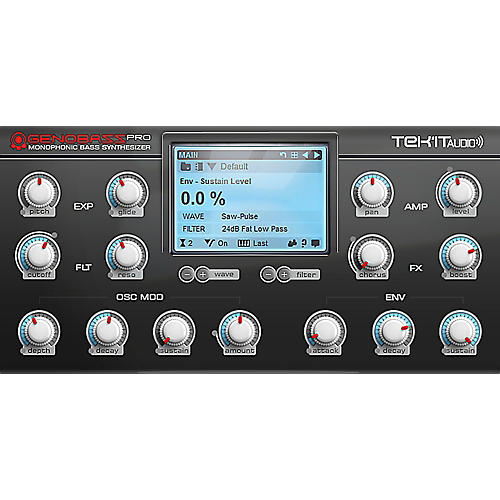Tek'it Audio Genobazz Pro Monophonic Virtual Synthesizer Plug-in Software Download-thumbnail