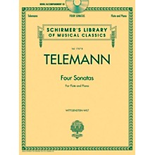 G. Schirmer Georg Phillip Telemann - Four Sonatas For Flute And Piano Book/CD