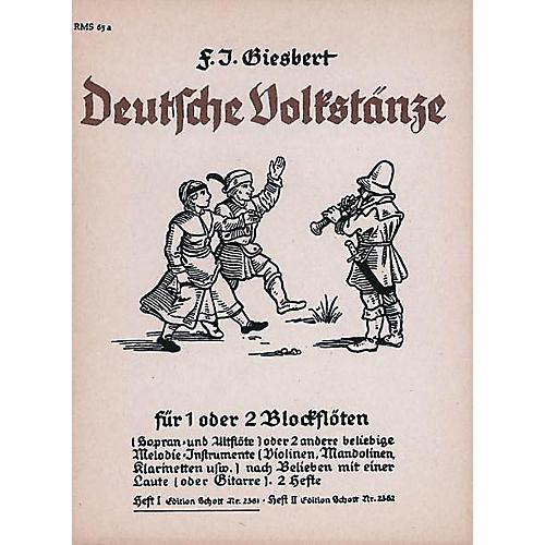 Schott German Folk Dances Vol. 1 Rec Schott Series