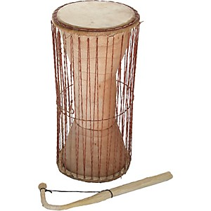 Overseas Connection Ghana Talking Drum with Stick by Overseas Connection