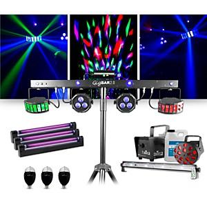 CHAUVET DJ GigBAR 2 w/ Jam Pack Diamond Blacklight and Party Bulb Lighting ...