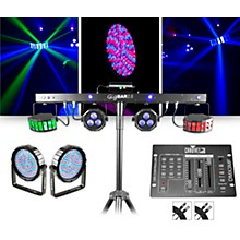 CHAUVET DJ GigBAR 2 w/ Thinpar64 10mm Pair and DMX3MF Controller Lighting Package