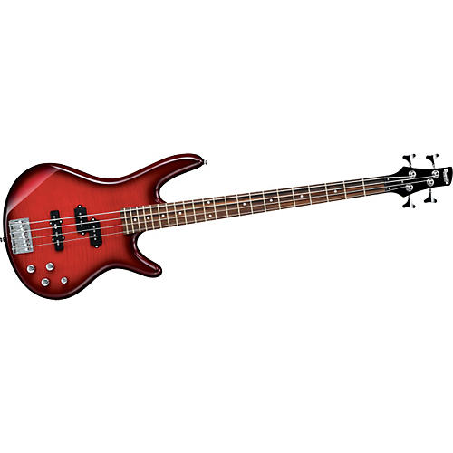 Ibanez Gio GSR200FM Bass Guitar Transparent Red Burst