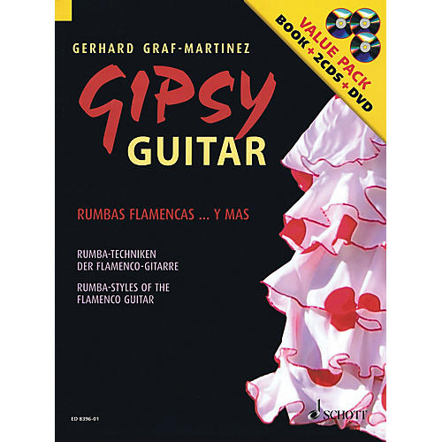 Hal Leonard Gipsy Guitar - Rumba Styles of the Flamenco Guitar (Book/2CDs/DVD)-thumbnail