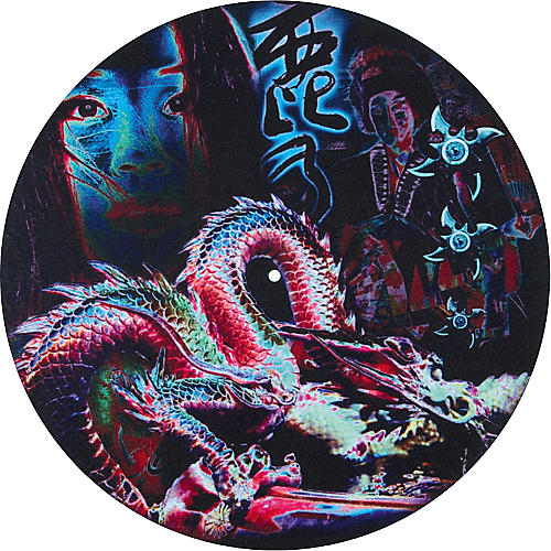 Musician's Gear Global Series Custom DJ Slipmat Pair - Dragon-thumbnail