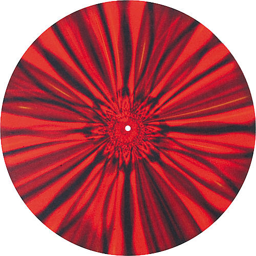 Musician's Gear Global Series Custom DJ Slipmat Pair - Red Bloom-thumbnail