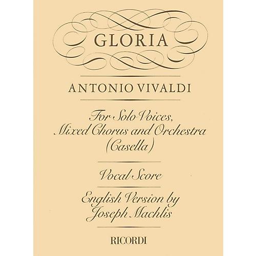 Ricordi Gloria RV589 (Vocal Score) SATB Composed by Antonio Vivaldi Edited by Maffeo Zanon