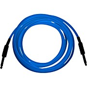 """Palmer Glow In The Dark Cable with 1/4 Inch Straight Plugs """"The Original GlowCable"""" - Blue"""