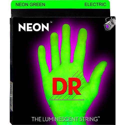 DR Strings Glow in the Dark Green Electric Guitar Strings Light
