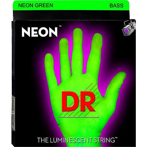 DR Strings Glow in the Dark Green Medium 4 String Bass Strings