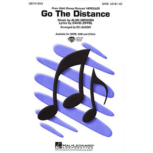 Hal Leonard Go the Distance (ShowTrax CD) ShowTrax CD Arranged by Ed Lojeski