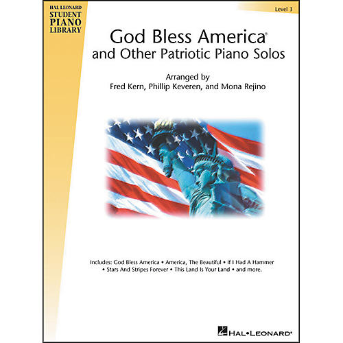 Hal Leonard God Bless America And Other Patriotic Piano Solos Level 3 Hal Leonard Student Piano Library-thumbnail