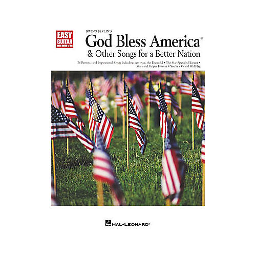 Hal Leonard God Bless America and Other Songs for a Better Nation Easy Guitar Book-thumbnail