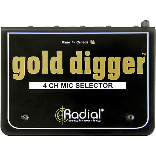 Radial Engineering Gold Digger 4-Channel Mic Selector-thumbnail