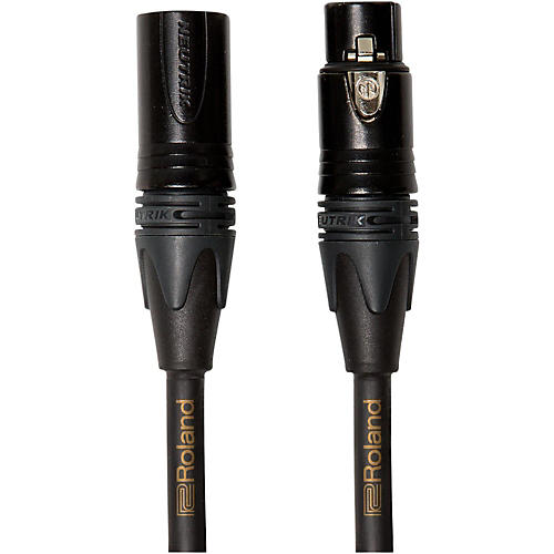 Roland Gold Series XLR Microphone Cable 50 ft. Black-thumbnail