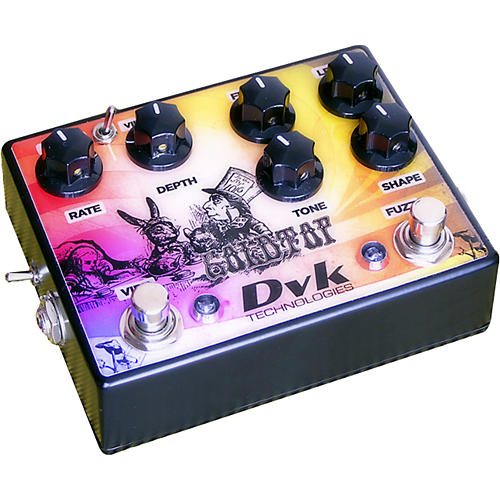 DVK Goldtop Fuzz and Vibe Guitar Effects Pedal-thumbnail