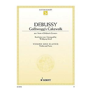 Schott Golliwoggs Cakewalk from Childrens Corner for Violin and Piano S... by Schott