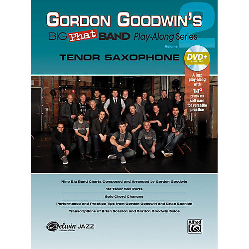 Alfred Gordon Goodwin's Big Phat Band Play-Along Series Tenor Saxophone Vol. 2 Book & DVDRom-thumbnail