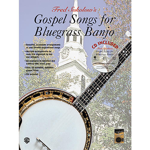 Alfred Gospel Songs for Bluegrass Banjo Tab Book-thumbnail