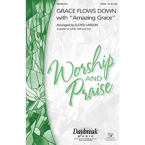 Hal Leonard Grace Flows Down with Amazing Grace SSA Arranged by Lloyd Larson