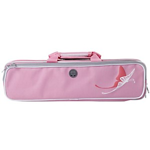 Kaces Grafix Pink Butterfly Series Polyfoam Flute Case