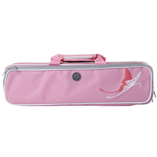 Kaces Grafix Pink Butterfly Series Polyfoam Flute Case-thumbnail