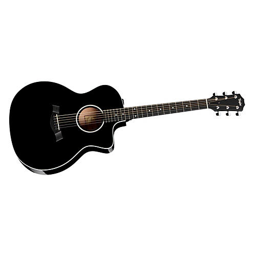 Taylor Grand Auditorium Cutaway Acoustic-Electric Guitar Black