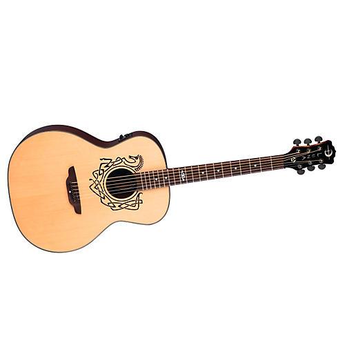 Luna Guitars Grand Concert Celtic-Themed Acoustic-Electric Guitar-thumbnail