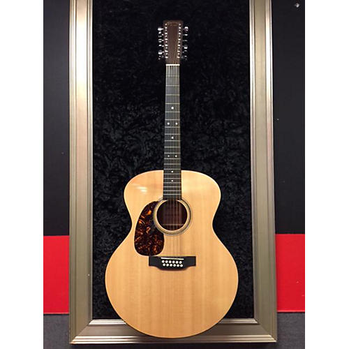 Martin Grand J1216GTE Left Handed Acoustic Electric Guitar Natural