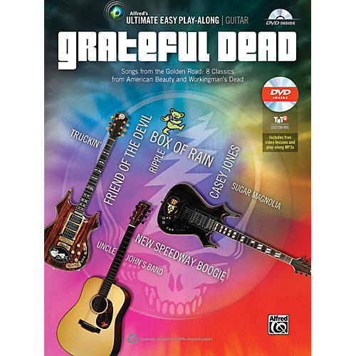 Alfred Grateful Dead - Ultimate Easy Guitar Play-Along Book & DVD-thumbnail