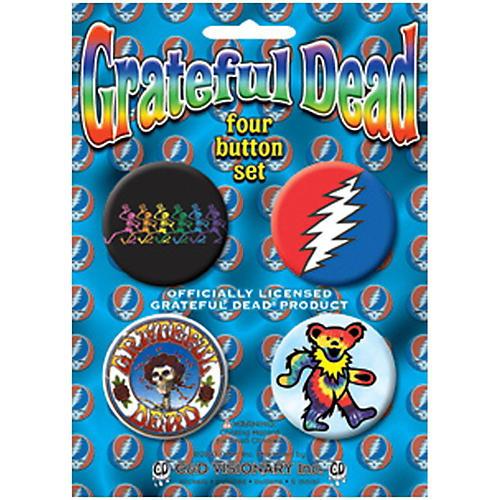 C&D Visionary Grateful Dead Button Set (4 Piece)