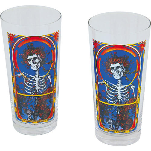 Vandor Grateful Dead Pilsner Glasses Set of 2