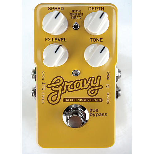 TC Electronic Gravy Tri-Chorus and Vibrato Guitar Effects Pedal