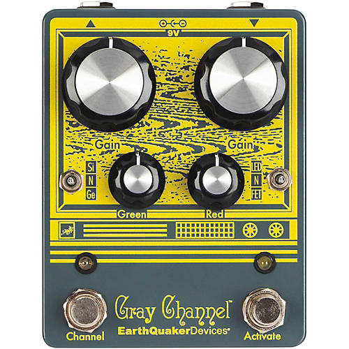Earthquaker Devices Gray Channel - Dynamic Dirt Doubler Overdrive Effects Pedal-thumbnail