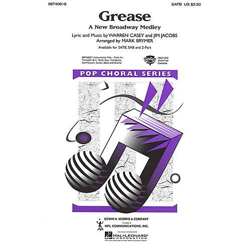 Hal Leonard Grease (A New Broadway Medley) SATB arranged by Mark Brymer