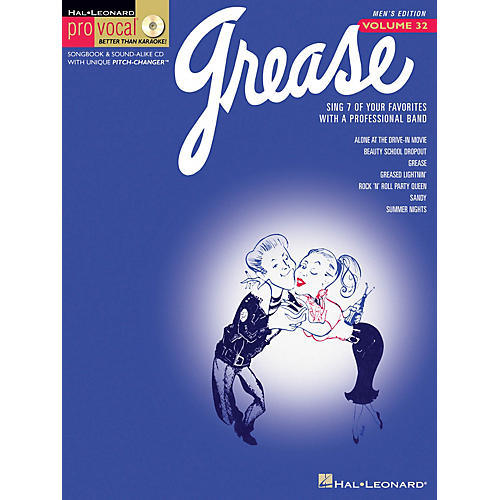 Hal Leonard Grease (Pro Vocal Men's Edition Volume 32) Pro Vocal Series Softcover with CD Composed by Various