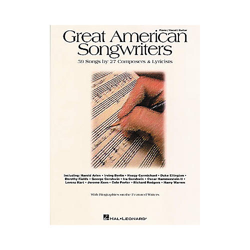 Hal Leonard Great American Songwriters Piano/Vocal/Guitar Songbook