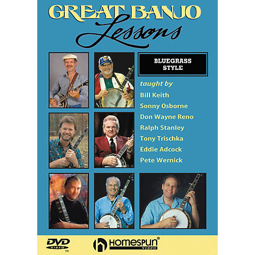 Homespun Great Banjo Lessons Bluegrass Style (DVD)-thumbnail